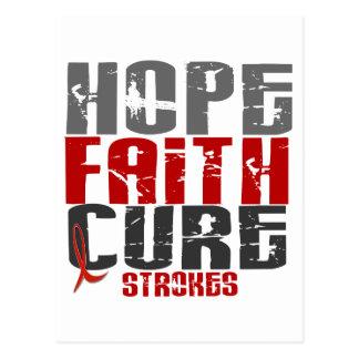 Hope Faith Cure Stroke 1 Postcards