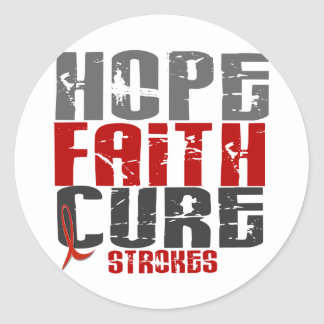 Hope Faith Cure Stroke 1 Classic Round Sticker