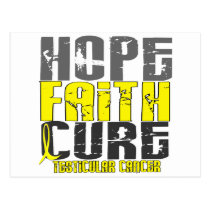 HOPE FAITH CURE TESTICULAR CANCER T-Shirts Postcard