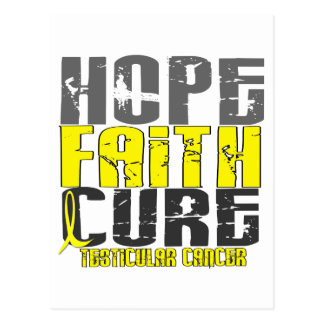 HOPE FAITH CURE TESTICULAR CANCER T-Shirts Postcard
