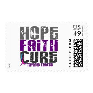 HOPE FAITH CURE THYROID CANCER STAMPS