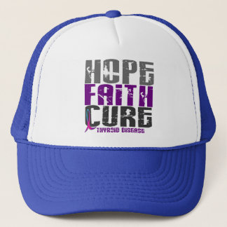 HOPE FAITH CURE THYROID DISEASE T-Shirts & Apparel Trucker Hat