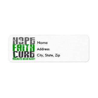 Hope Faith Cure Traumatic Brain Injury TBI Label