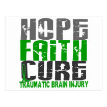 Hope Faith Cure Traumatic Brain Injury TBI Postcard