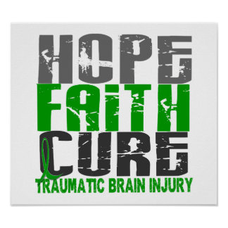 Hope Faith Cure Traumatic Brain Injury TBI Print
