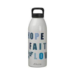 Hope Faith Love Butterfly Drinking Bottle