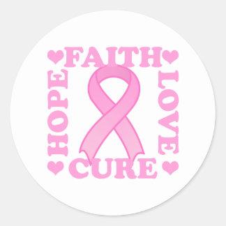 Hope Faith Love Cure Sticker