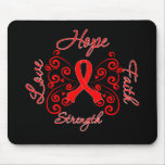 Hope Faith Love Strength AIDS Disease Mousepad