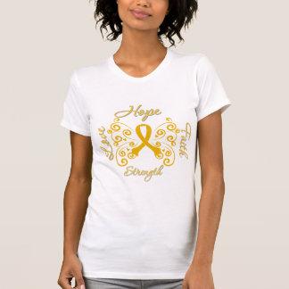 Hope Faith Love Strength Appendix Cancer T Shirts