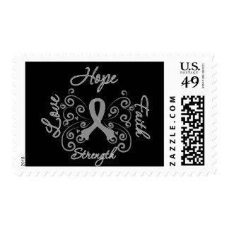 Hope Faith Love Strength Brain Cancer Stamp