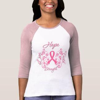 Hope Faith Love Strength Breast Cancer Tees