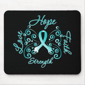 Hope Faith Love Strength Cervical Cancer Mouse Pad