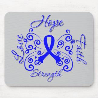 Hope Faith Love Strength Colon Cancer Mouse Pad