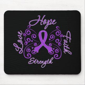 Hope Faith Love Strength Fibromyalgia Mousepad
