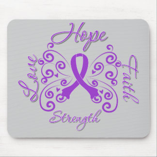 Hope Faith Love Strength Fibromyalgia Mouse Pad