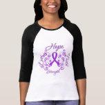 Hope Faith Love Strength Fibromyalgia T-shirts