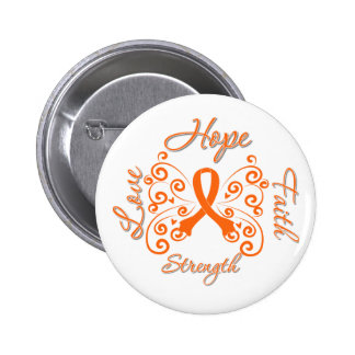 Hope Faith Love Strength Kidney Cancer 2 Inch Round Button