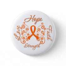 Hope Faith Love Strength Kidney Cancer Pinback Button