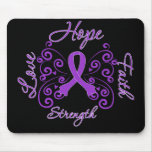 Hope Faith Love Strength Leiomyosarcoma Mousepad