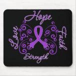 Hope Faith Love Strength Leiomyosarcoma Mousepad