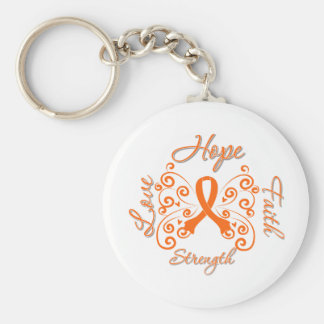 Hope Faith Love Strength Leukemia Keychain
