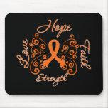 Hope Faith Love Strength Leukemia Mouse Pad
