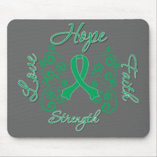 Hope Faith Love Strength Liver Cancer Mouse Pad