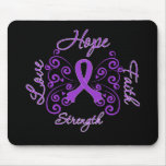 Hope Faith Love Strength Lupus Mouse Pad