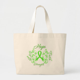 Hope Faith Love Strength Lymphoma Tote Bags