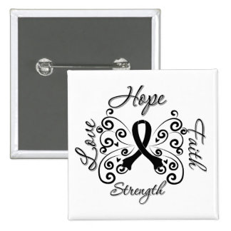 Hope Faith Love Strength Melanoma Pinback Button