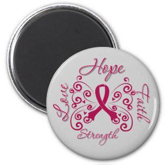 Hope Faith Love Strength Multiple Myeloma Fridge Magnets