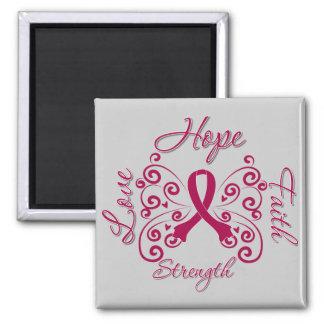 Hope Faith Love Strength Multiple Myeloma Fridge Magnet