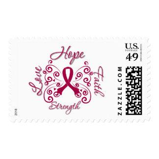 Hope Faith Love Strength Multiple Myeloma Postage Stamp