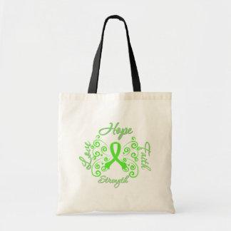 Hope Faith Love Strength Non-Hodgkin's Lymphoma Canvas Bags