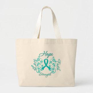 Hope Faith Love Strength PCOS Tote Bags