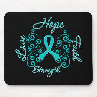 Hope Faith Love Strength PCOS Mouse Pad