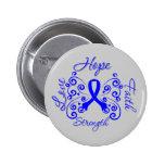 Hope Faith Love Strength Rectal Cancer Buttons