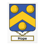 Hope Family Crest Announcements