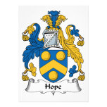 Hope Family Crest Personalized Invite