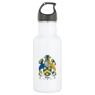 Hope Family Crest Stainless Steel Water Bottle
