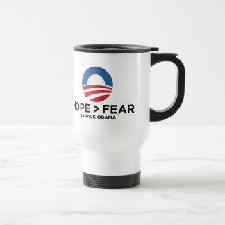 hope > fear hope won travel mug