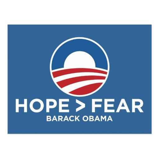 hope > fear obama 08 hope won postcard