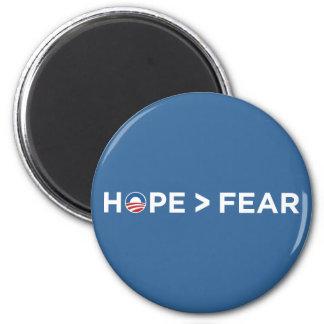hope > fear obama 2008 hope won 2 inch round magnet