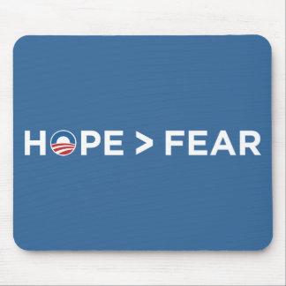 hope > fear obama 2008 hope won mouse pads