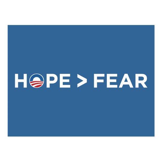 hope > fear obama 2008 hope won postcard