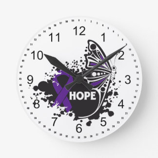 Hope Fibromyalgia Butterfly Wall Clock