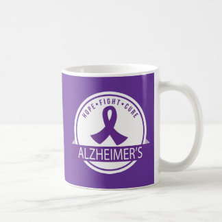 Hope Fight Cure Alzheimers Disease support mug