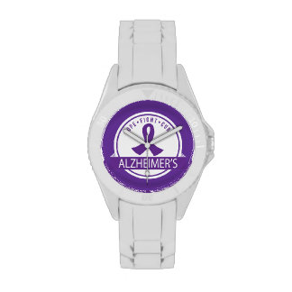 Hope Fight Cure Alzheimers gift Watch