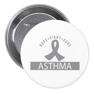 Hope Fight Cure Asthma Awareness Button