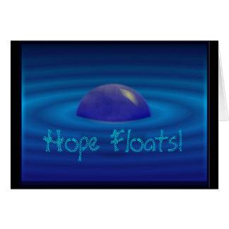 Hope floats, blank greeting card